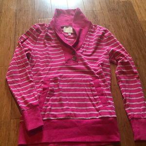 Banana republic striped sweatshirt